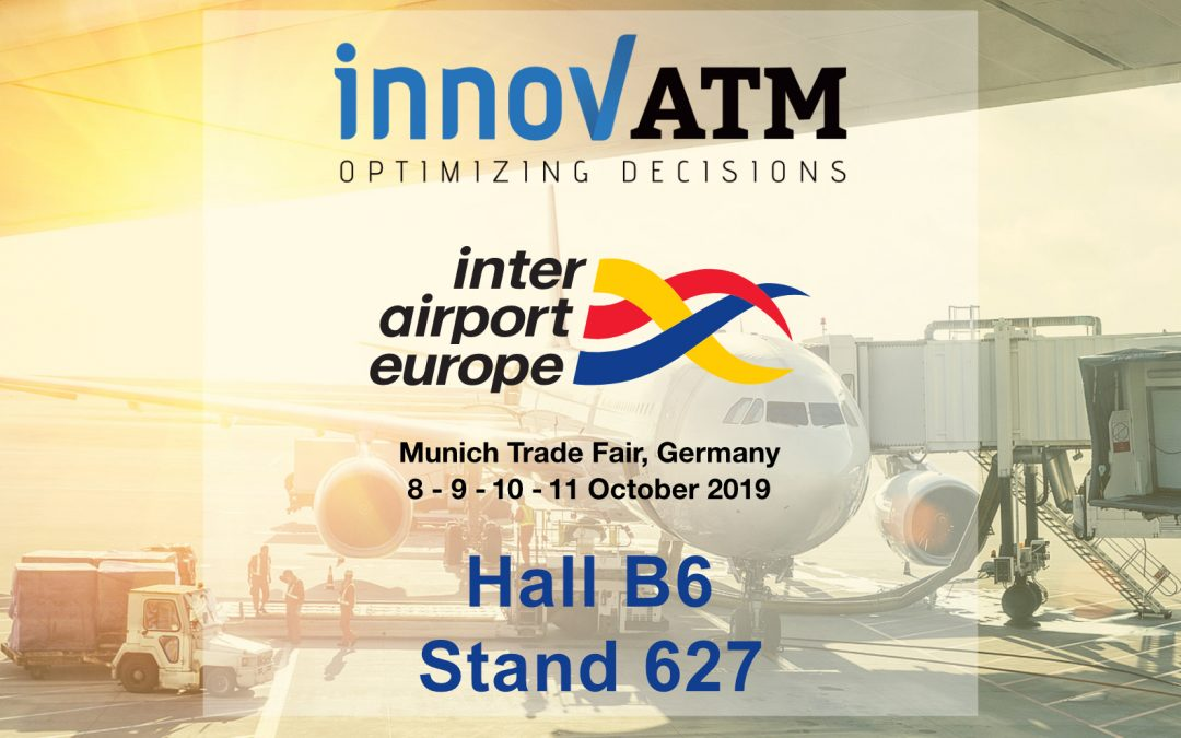 Innov'ATM will be exhibiting at the InterAirport Europe 2019 in Munich